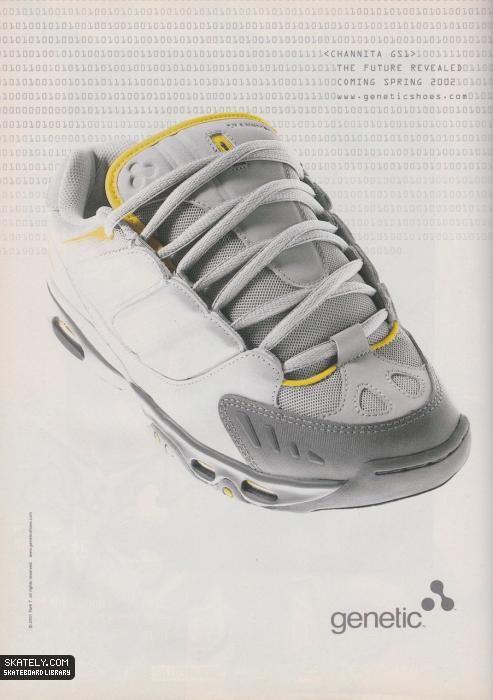 179ebeba60113a Genetic Shoes - The Future Revealed Ad (2002)   Skately Library ...