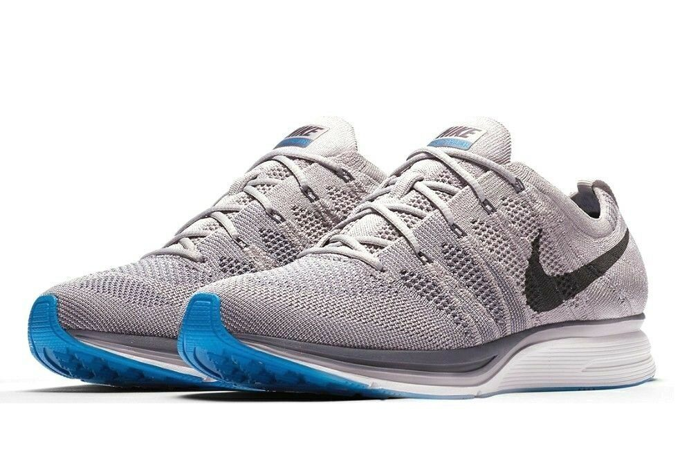 15605017c67e4c Nike Flyknit Trainer Running Shoes Mens 5 Womens 6.5 Atmosphere Grey  Thunder  Nike  RunningShoes