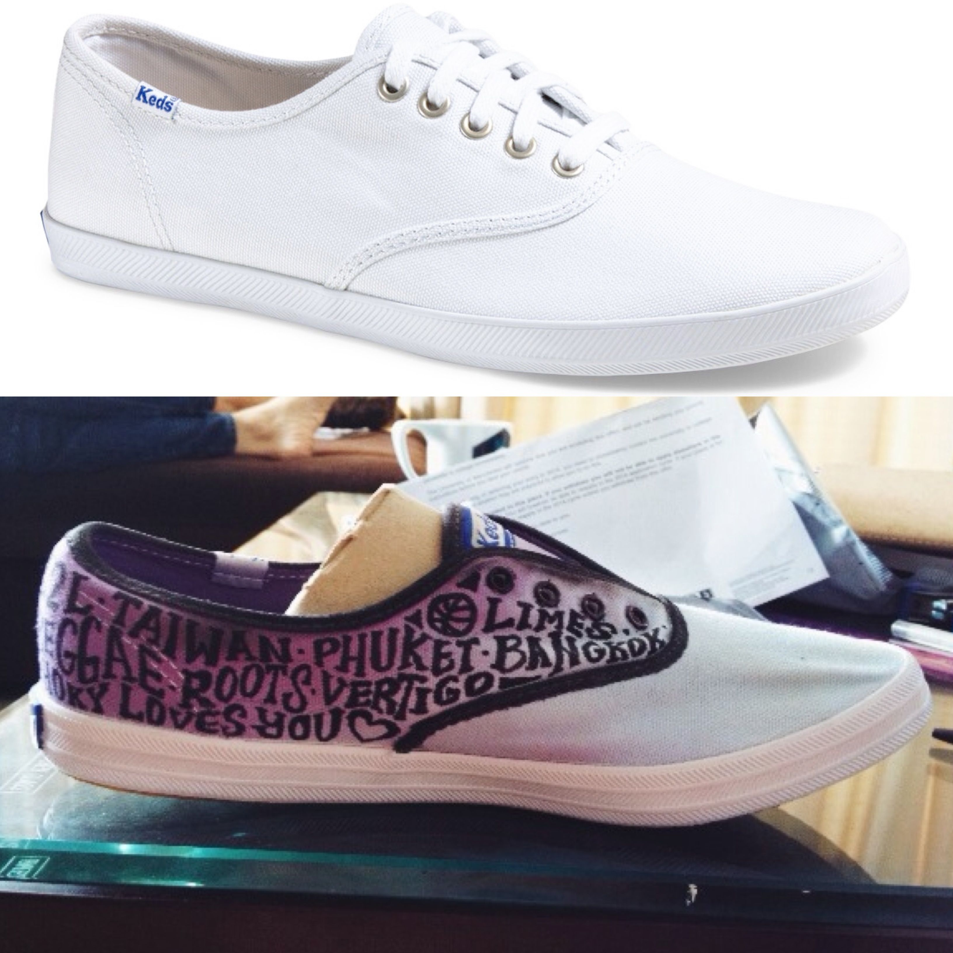 DIY Ombré Keds!! It Was So Fun Doing This With A Few Tubs
