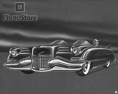 1950 Cadillac Design Proposal Artwork