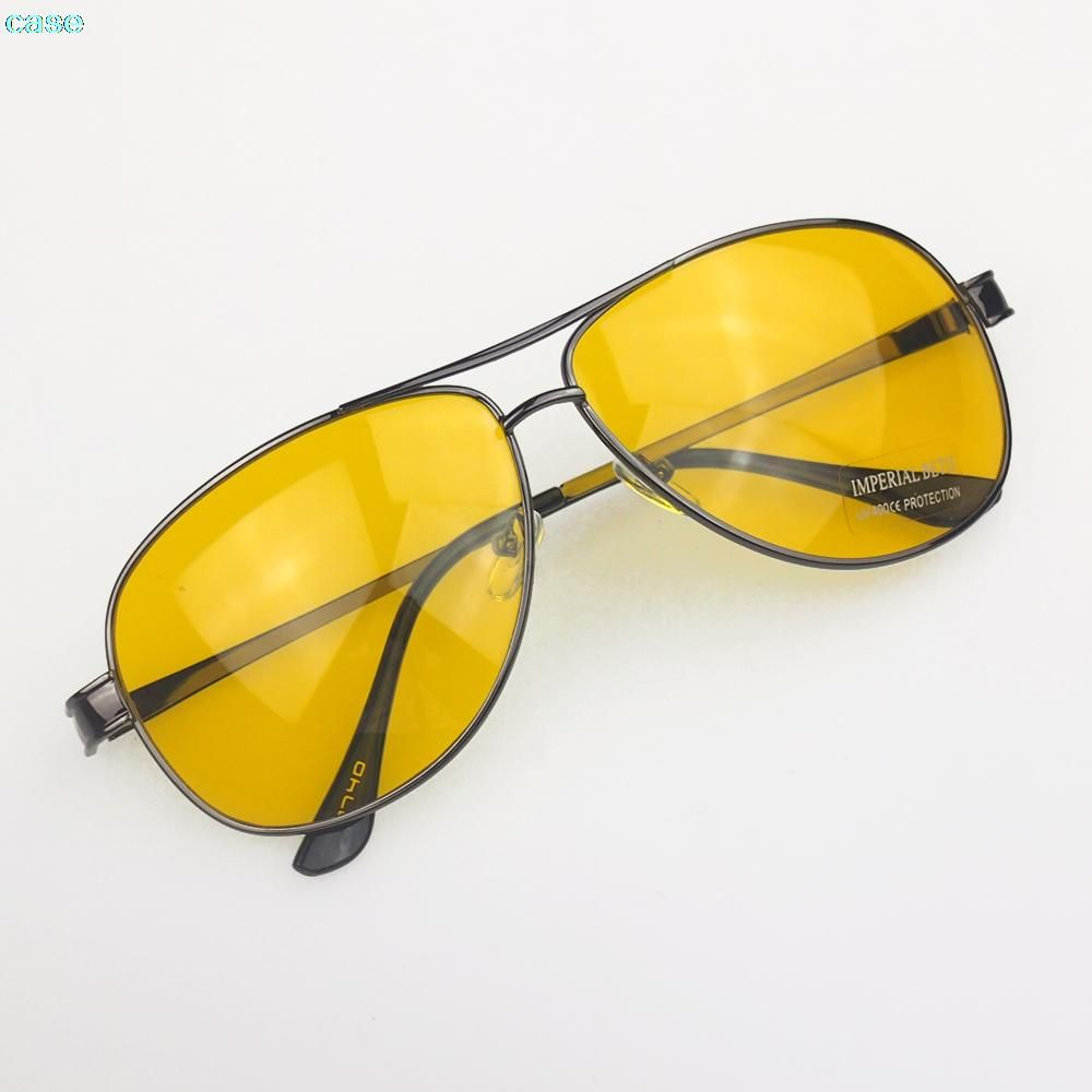 74d7561179 Best Quality Vintage men Driver HD High Definition Night Vision yurt Sunglasses  Yellow lens google Sun glasses big promotions  women