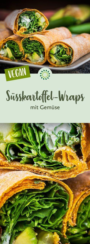 Sweet potato wraps with vegetables