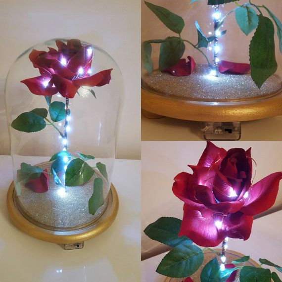 Custom made bell jar glass dome centerpiece gift with
