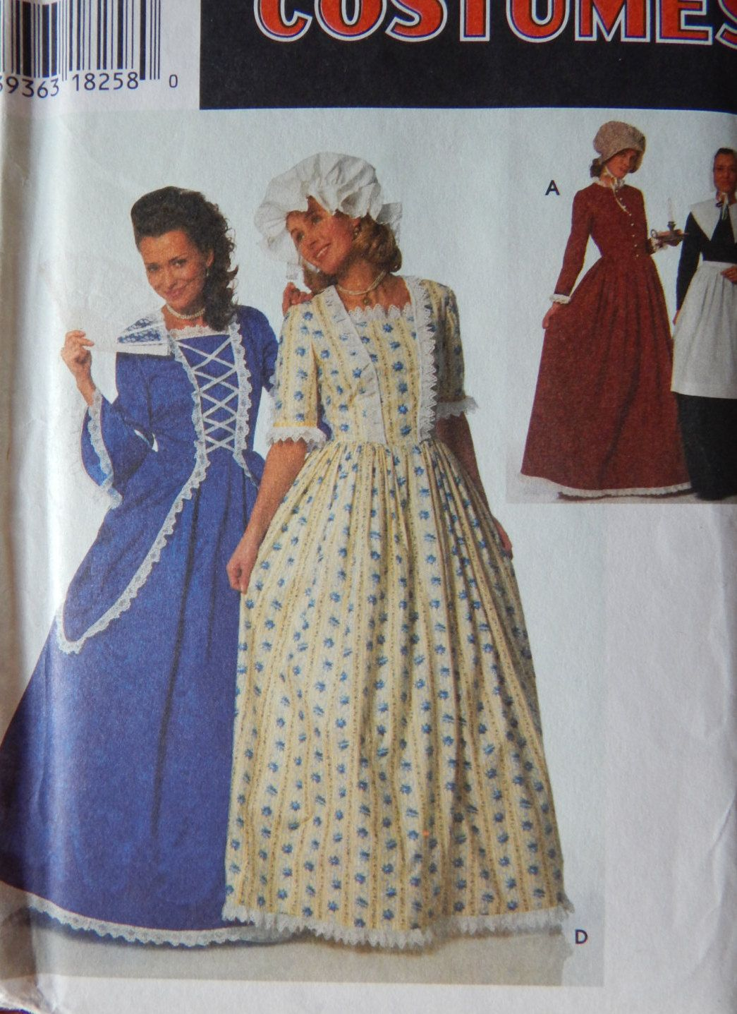 Historic Gown Sewing Pattern/ Simplicity 9713/ Misses Miss Petite Sz ...