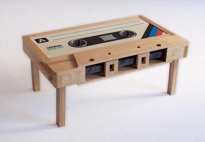 Retro mini cassette tape coffee table cassette tape coffee table mixtape coffee table led - Idee deco eetsalon eigentijdse ...