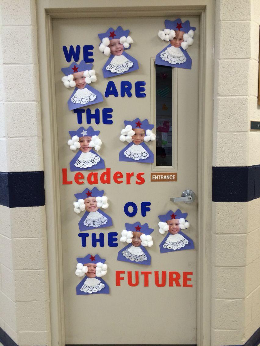 Presidents Day Door Decoration History Classroom