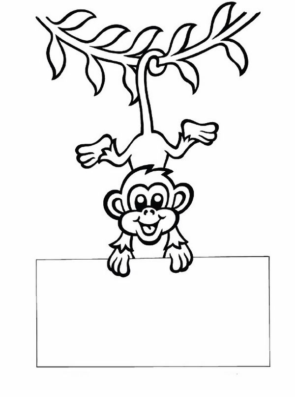 Chinese New Year craft ideas monkey tail message coloring pages ...