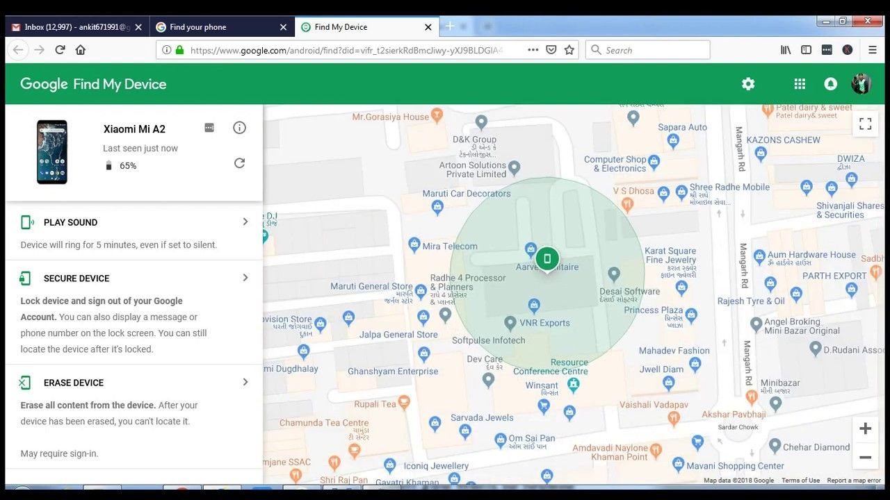 How to track mobile phone location via Gmail Find Cell