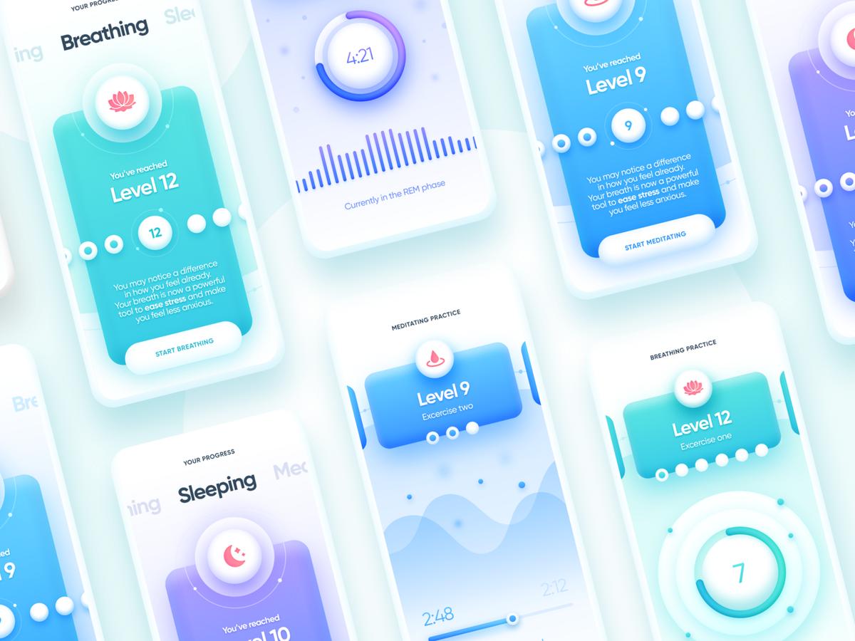 Ukiyo Mindfulness And Wellness App In 2020 Wellness Apps Web Development Design App Design