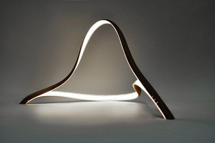 Moderne Lampen 93 : Holzlampe ausnahme und besonderheit im lampen design leuchten