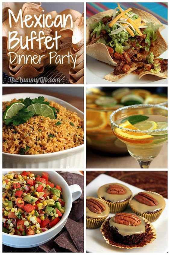 Buffet Dinner Party Ideas Part - 25: Mexican Buffet Dinner Party. Make-ahead Recipes And Planning Tips For A Fun,
