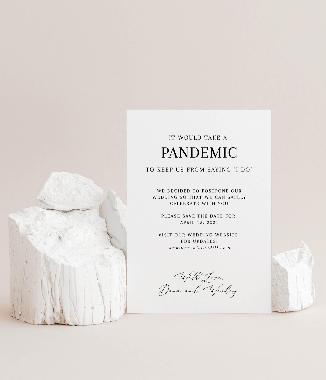 Pandemic Wedding Announcement Template