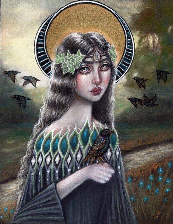 Nemetona sacred groves Celtic goddess starlings hand