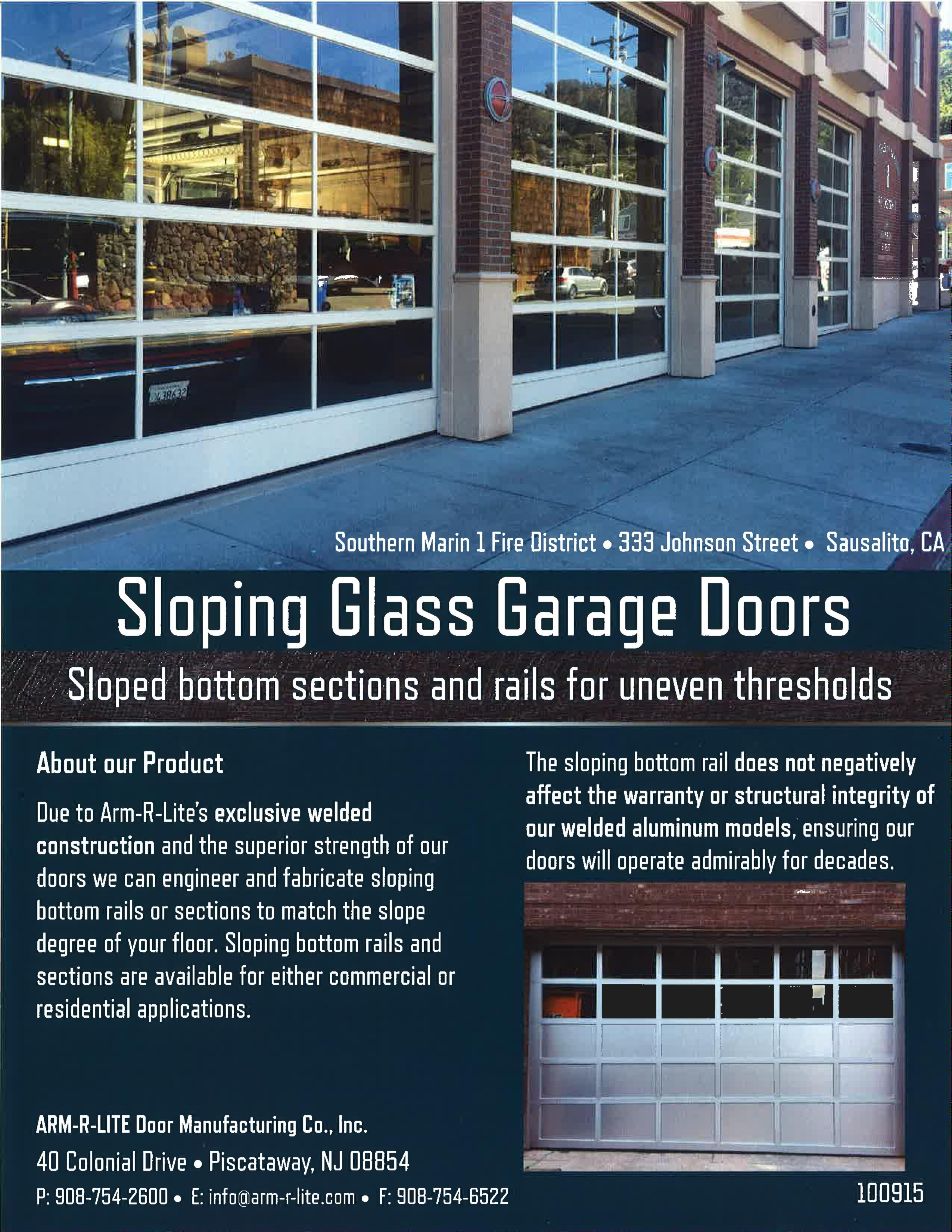 Sloping Bottom Glass Garage Doors By Arm R Lite Are A Great Option