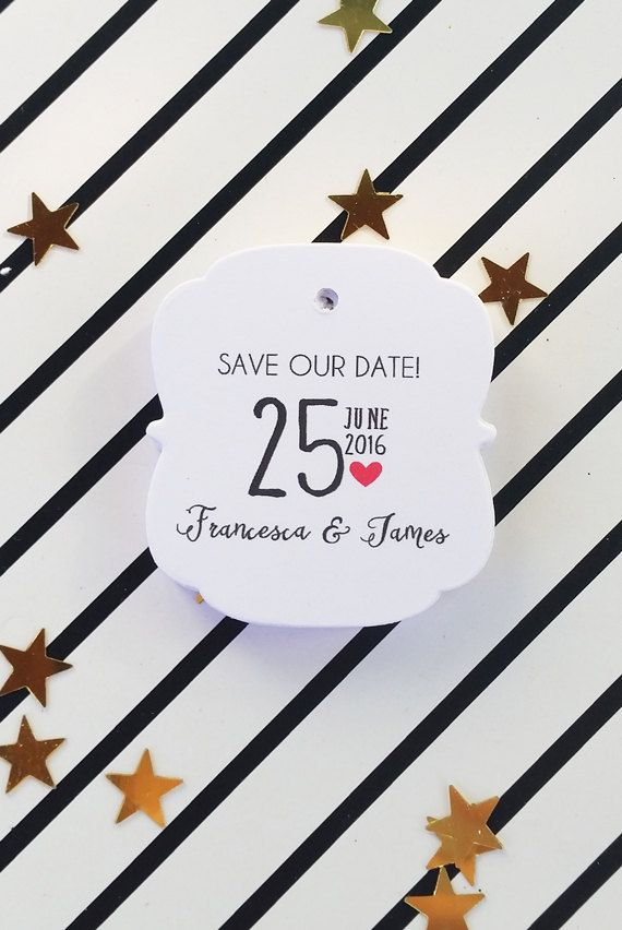 Wedding Tags Save the Date Tags Printable by DiyCraftyScraps