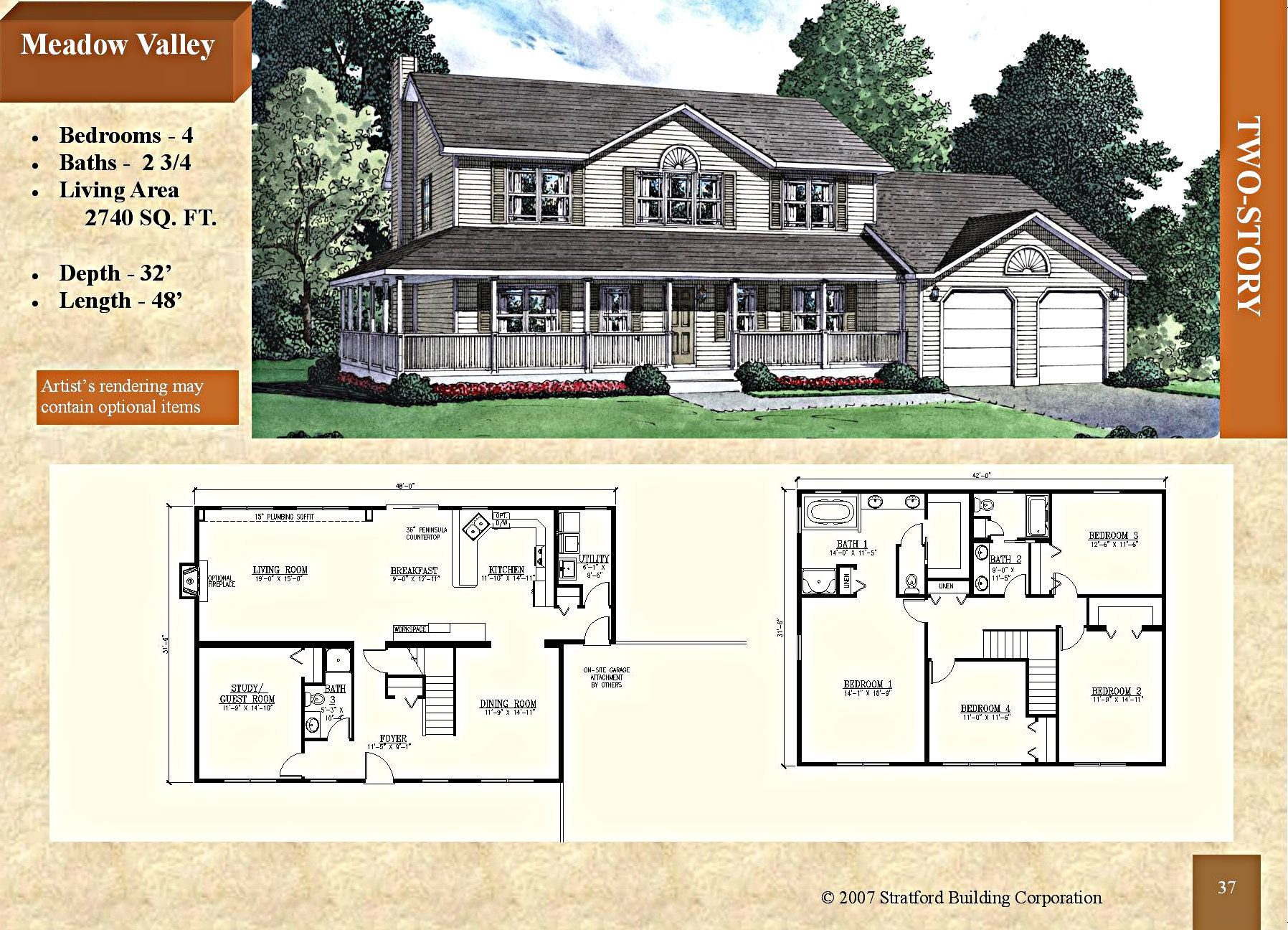 Modular 2 Story Floor Plan Meadow Valley 2740 Sq Ft Stratford Home Center Four Module Configuration Pe Stratford Homes Floor Plans Modular Floor Plans