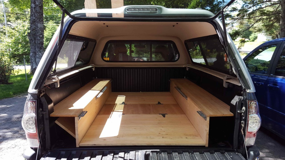Show us your truck bed sleeping platform/drawer/storage