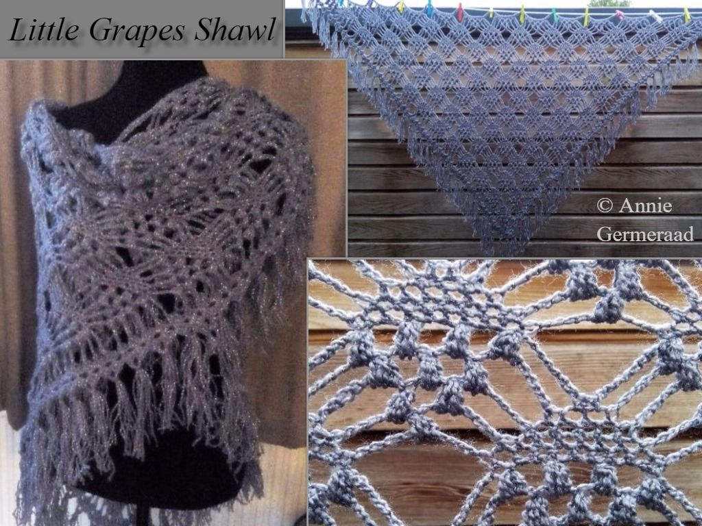 Grape pattern for shawl crochet - patterns for shawls crochet and patterns