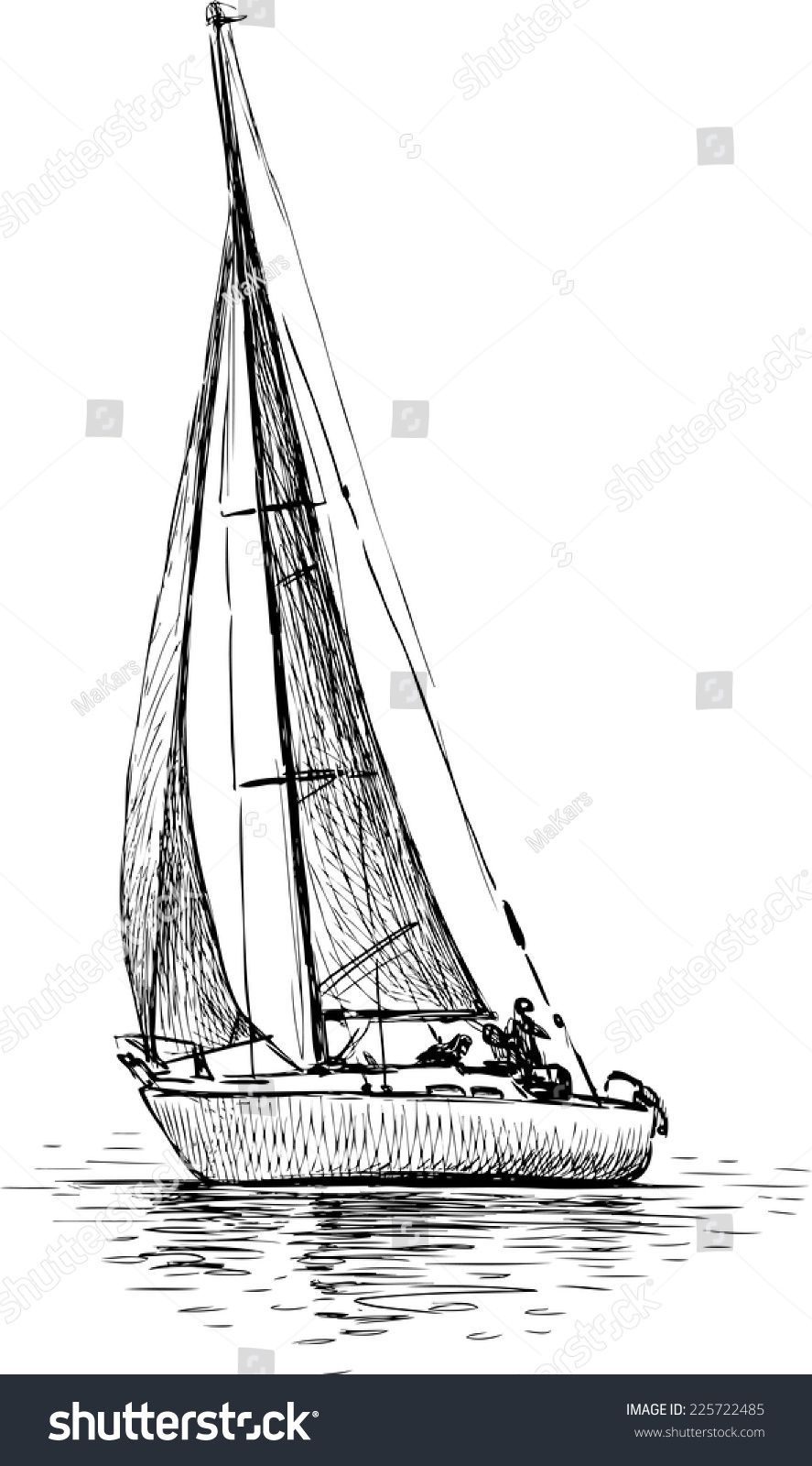 Sailing Yacht Cobaltboatsluxury Sailing Tattoo Sailboat