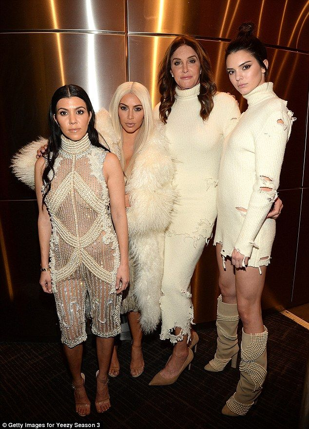 3c0e73e189e8b Sweater weather  Cait and Kendall both wore a high necked ribbed white dress  which featured rips across it