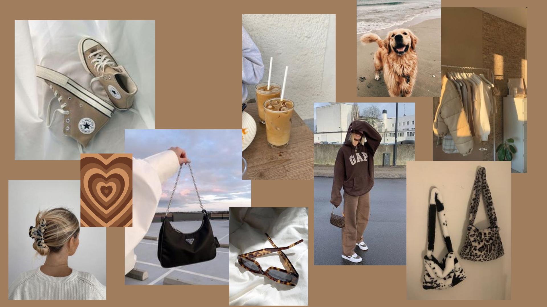 wallpaper aesthetic brown macbook in 2021 desktop