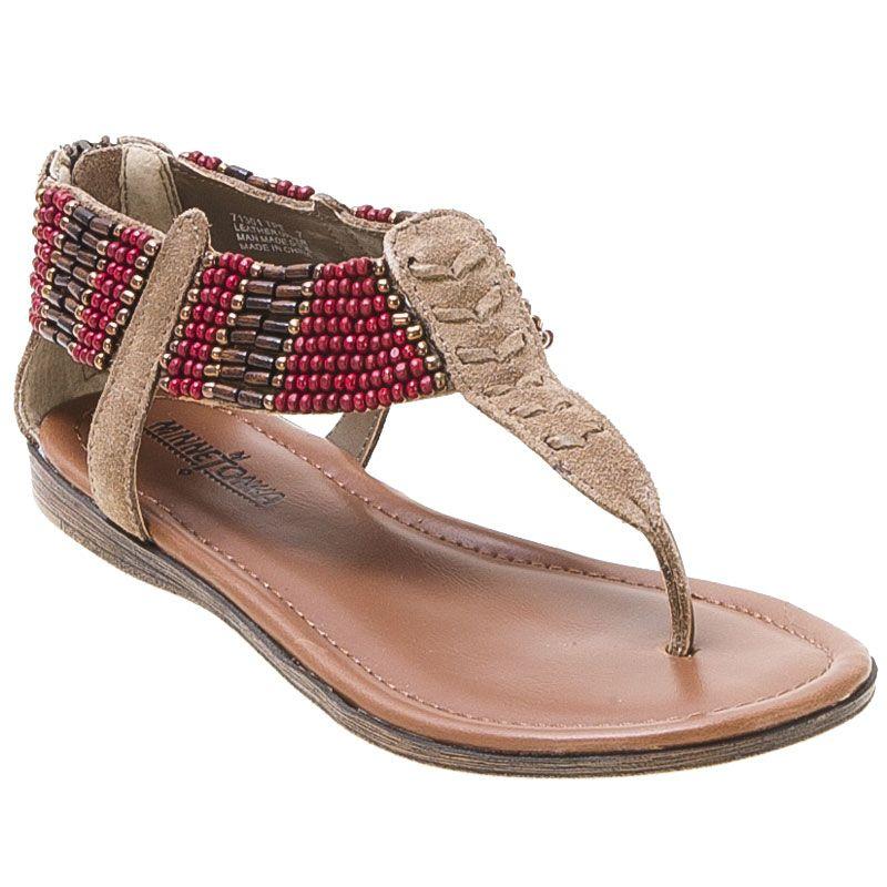 Minnetonka Thong Ibiza ♡shoe Shoes Black Sandal Taupe Womens wCOxg5nq