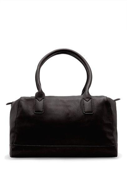 Faux leather bowling bag - Women  5df6626e0972d