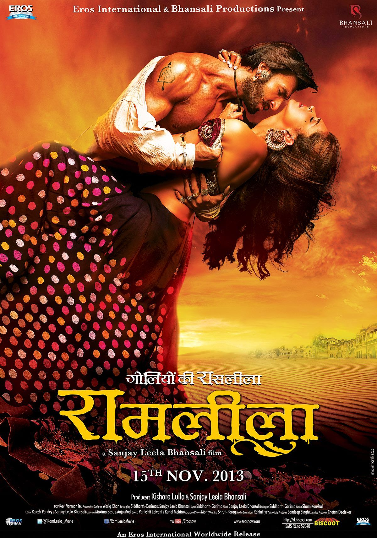 Ram Leela Poster 2 The Most Passionate And Beautiful