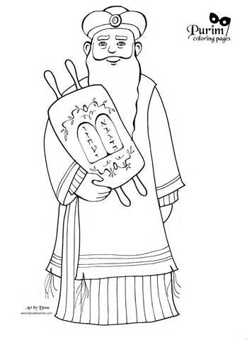 Purim Coloring Pages! | | purim | Pinterest | Sunday school and Craft
