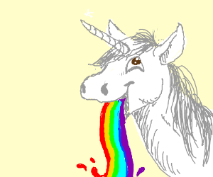 A Unicorn Throwing Up Rainbows Panel By Lindsey Broadhead Rainbow Drawing Funny Drawings Rainbow