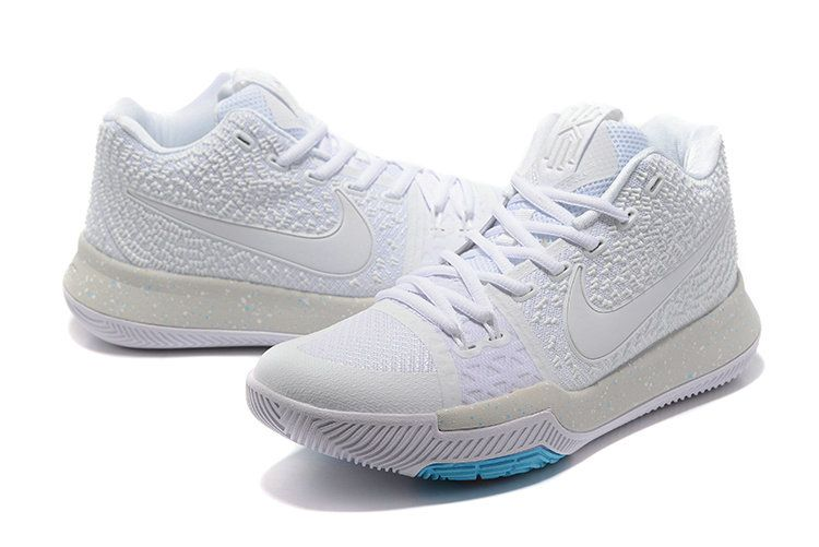 newest 804ed 7c64b ... authentic nike zoom kyrie 3 mens basketball shoes white light grey blue  1d4ac 7f0ea