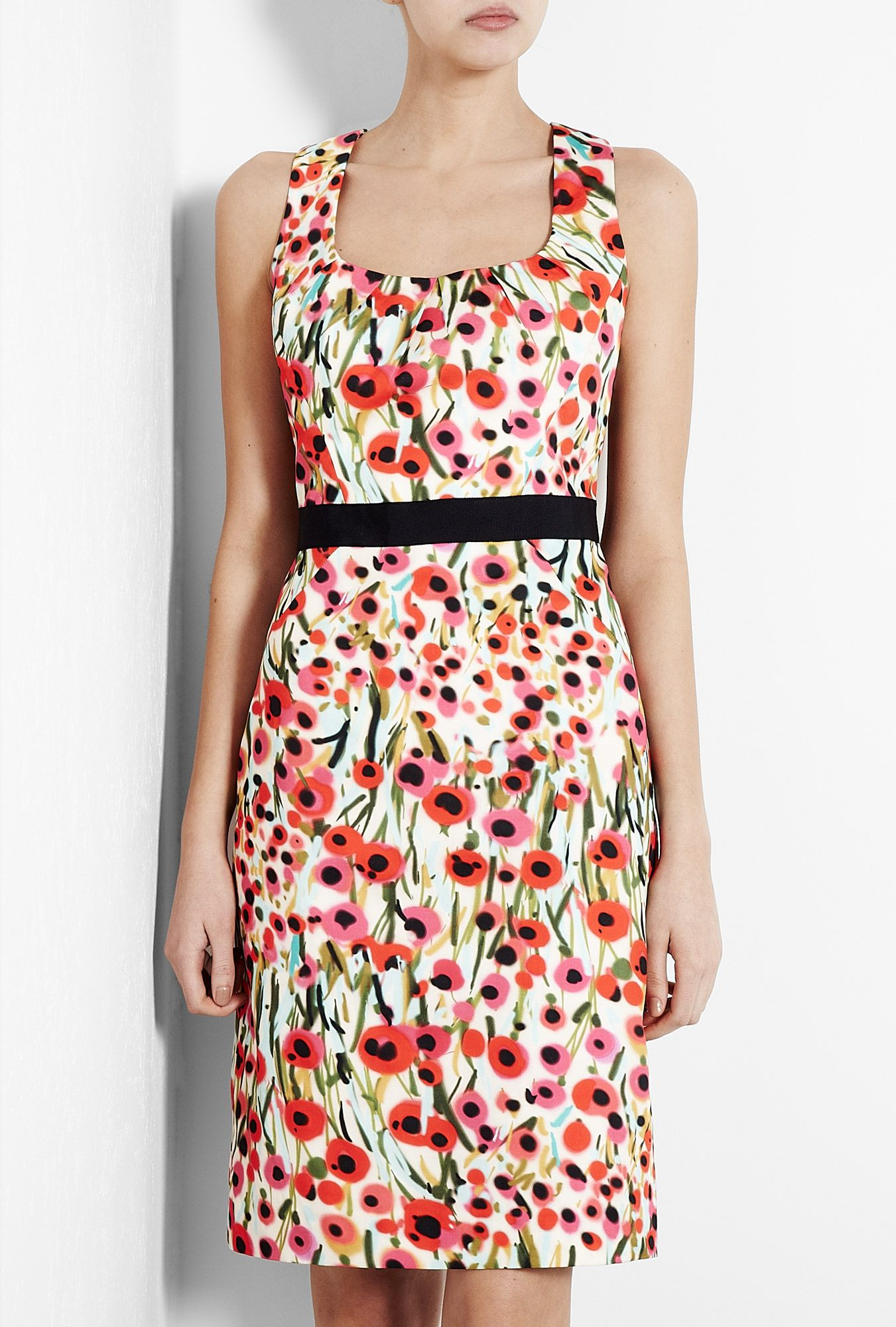Poppy Field Print Sheath Dress By Milly Red Dress Short Dresses Printed Sheath Dresses [ 2000 x 1351 Pixel ]