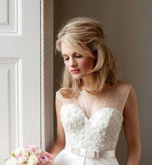 """Hairstyles For Casual Wedding: Soft """"dressy Casual"""" Bridal Style For Midlength Hair"""