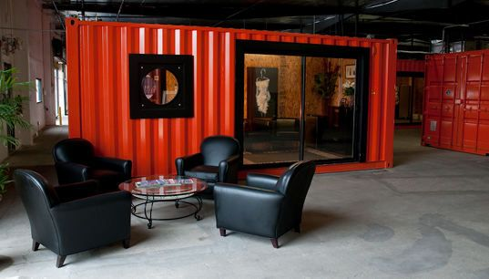Shipping Containers Transform Warehouse Into Office Space Office
