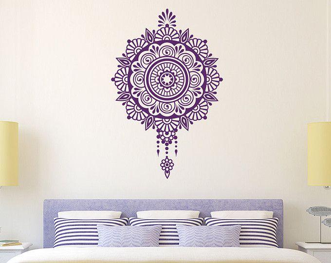 Mandala Wall Decal Namaste Moroccan Pattern Vinyl Sticker Decal