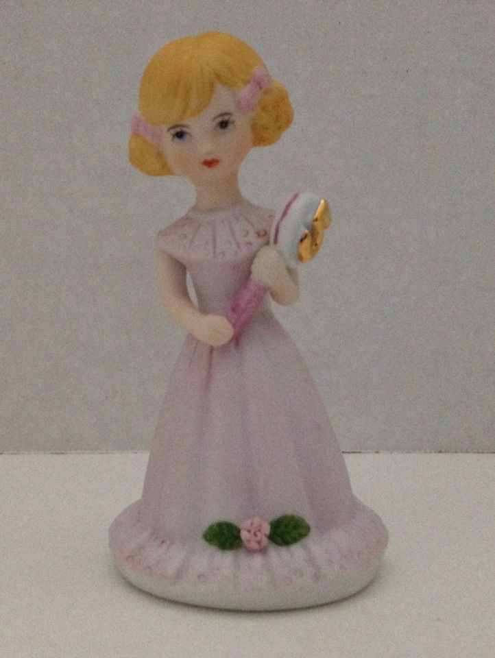 Enesco Growing Up Girls #Birthday Girl Age 5 Strawberry Blonde Pink Dress Figure #Enesco #GrowingUpGirls