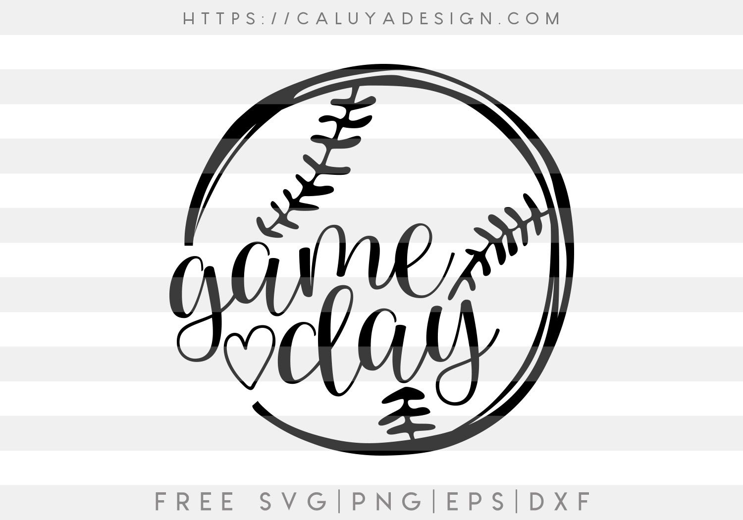 Photo of Free Baseball Game Day SVG, PNG, EPS & DXF by Caluya Design