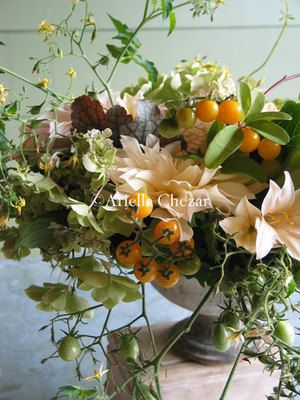 Love The Tomatoes And Veggies In This Centerpiece Wedding Florals