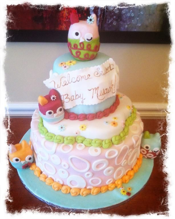 baby owl shower tableware  zutano owl baby shower cake by sugar, Baby shower invitation