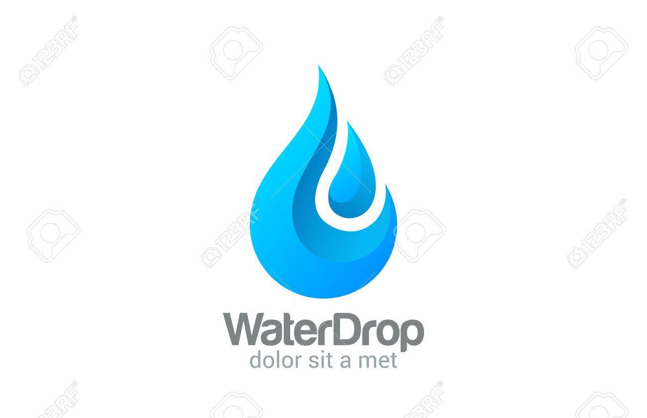 Waterdrop Creative Vector Logo Design Template. Clear ...