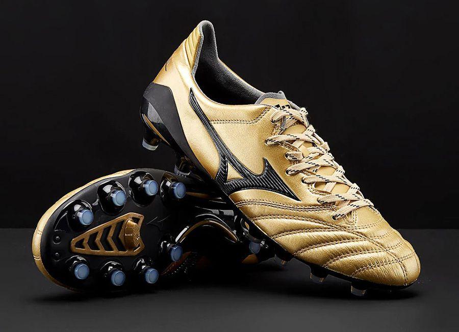 more photos b2209 a19dd Mizunofootball  footballboots Mizuno Morelia Neo II Made in Japan - Gold    Black