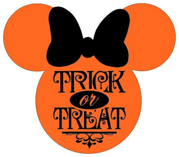 personalized trick or treat halloween minnie or mickey mouse diy iron on decal i need - Mickey Minnie Halloween