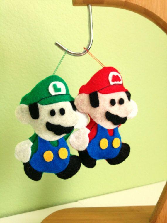 Mario and Luigi Felties by twopeasinaspacepod on Etsy, $17.50 - Mario And Luigi Felties By Twopeasinaspacepod On Etsy, $17.50