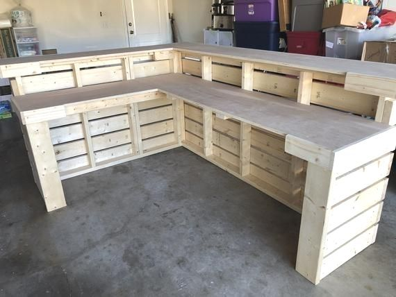 The L Shaped Hello Elyse 8 x 6 Pallet style 2 level  Etsy