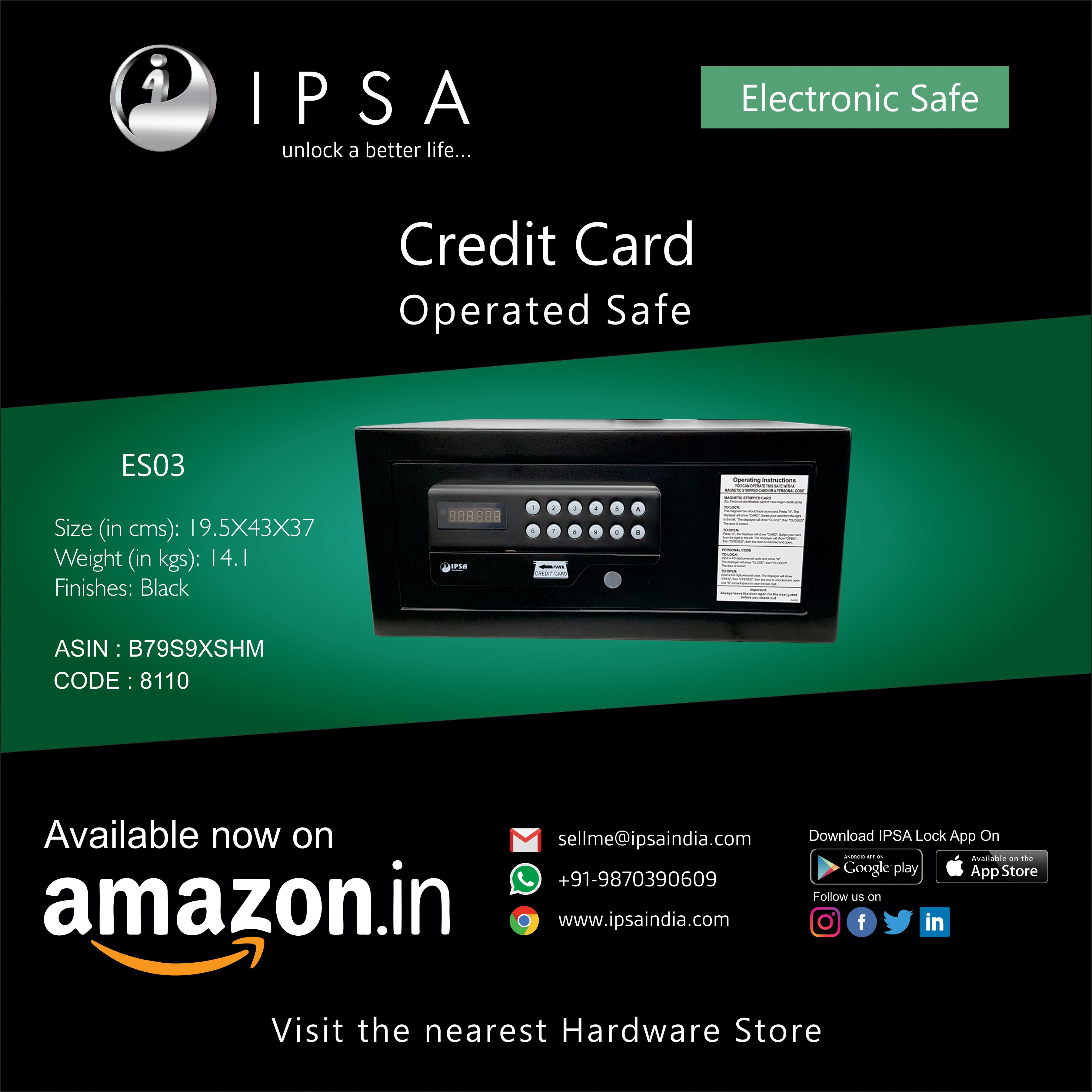 Ipsa es03 daily home office use debit credit card operated