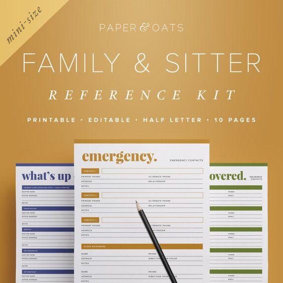 Mom Planner PDF, Family Planner Binder, Family Home Binder