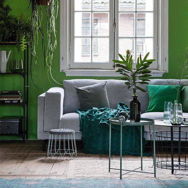 Wie denkt dat groen verleden tijd is, heeft het mis! Happy Greenery. 🐸 #trendkleur #fris #gedurfd #groeninhuis #IKEA #IKEAnederland