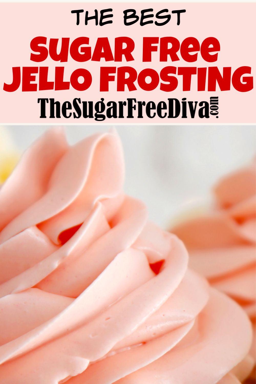 SUGAR FREE JELLO FROSTING #sugarfreedesserts