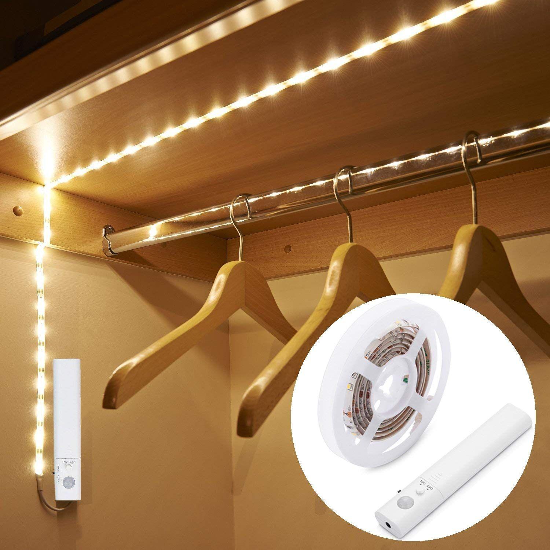 Amagle Led Dual Mode Motion Night Light Flexible Led Strip With Motion Sensor Closet Light For Bedro Strip Lighting Motion Sensor Closet Light Closet Lighting