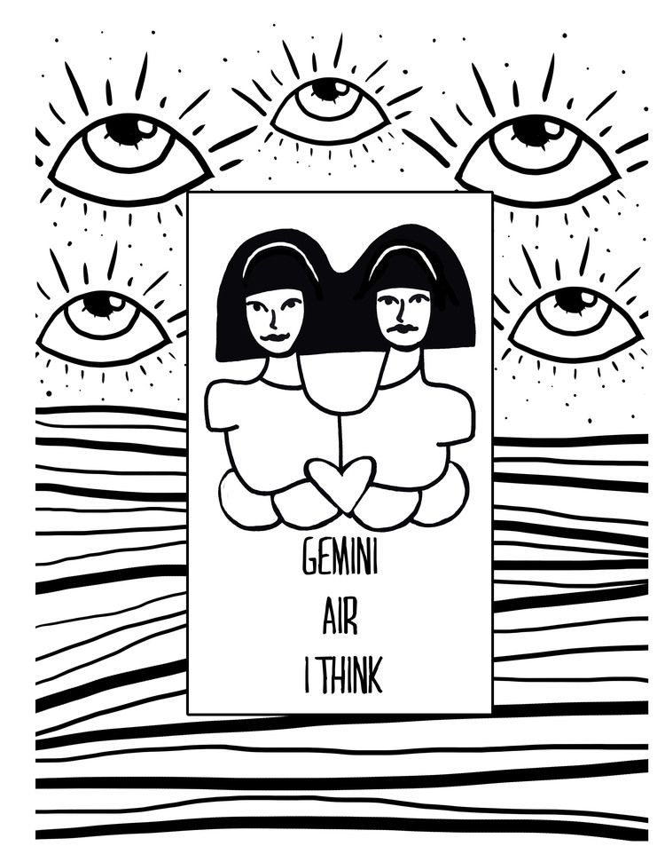 Get your Gemini coloring page now, its changing to Cancer next week ...